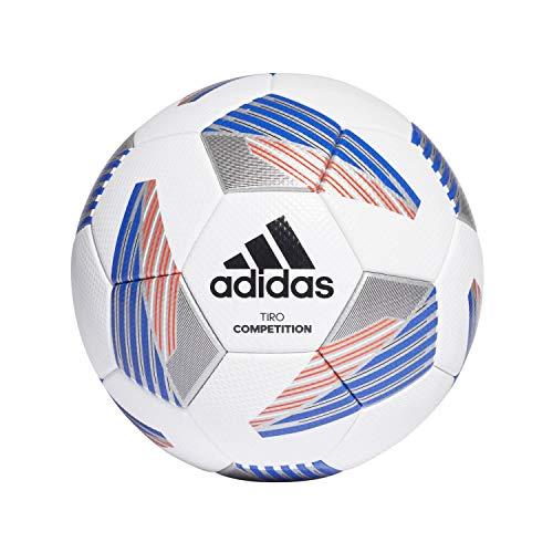 Adidas Tiro Com Fußball Ball White/Black/ROYBLU/SI 5