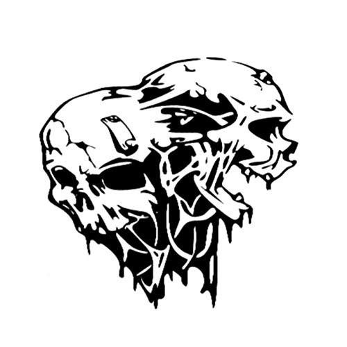 ARGYJAE Pegatina de vinilo para coche ZOMBIE Skull Dead Walking Response Team de 18 x 17,5 cm, color negro y plateado S8-1152 (nombre del color: negro)