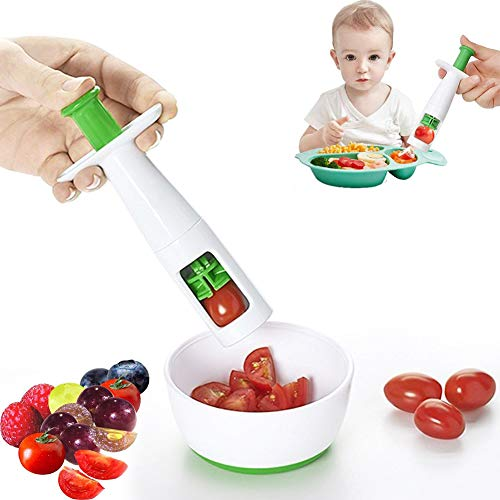 1PCS Grape Cutter Cherry Tomato Grape Slicer for Kids Fruit Vegetable Slicer Multifunctional Creative Cut Tools for Salad Gadget and Baby Auxiliary FoodPlastic Shell Stainless Steel Blade