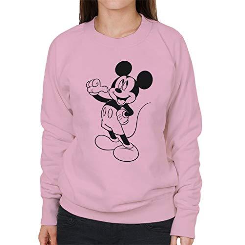 Disney Mickey Mouse klassieke zwarte schets dames trui