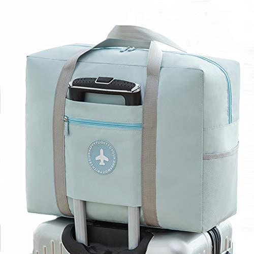 AINAAN Bag Travel Foldable Bag & Portable Duffel for Women, Men& Kids - Waterproof Lightweight Carry On Luggage, 2019, Blue