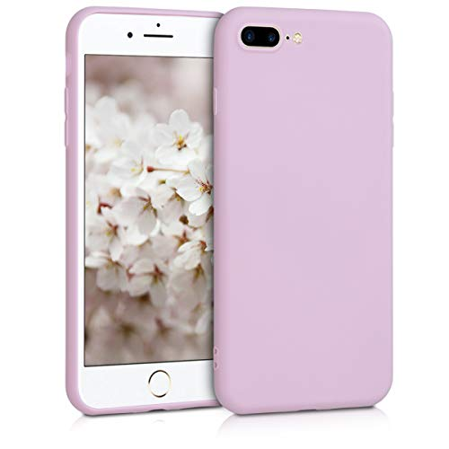 kwmobile Funda Compatible con Apple iPhone 7 Plus / 8 Plus - Carcasa de TPU Silicona - Protector Trasero en Malva Pastel