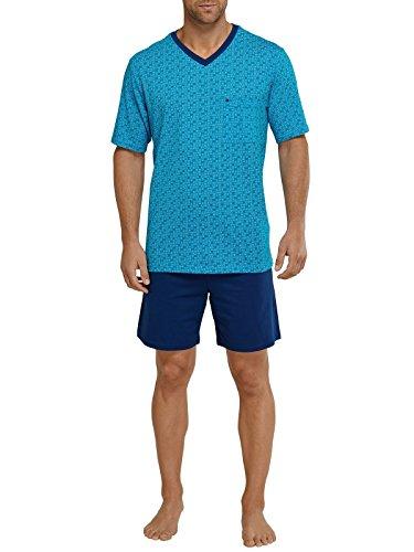 Seidensticker Herren Anzug Kurz Zweiteiliger Schlafanzug, Blau (Blau 800), XX-Large