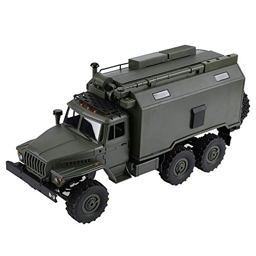 Dilwe RC Truck, 1/16 Scale WPL B-36 Electric Remote Control Military Off-Road Truck RC Model Vehicle (Kit Version) with LED