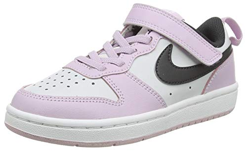 Nike Court Borough Low 2 (PSV), Scarpe da Basket, Photon Dust/off Noir-Iced Lilac-White, 33 EU