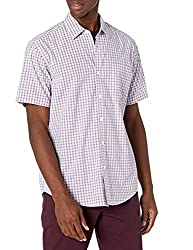 Amazon Essentials Men's Regular-Fit Short-Sleeve Poplin Shirt for father's day gift ideas