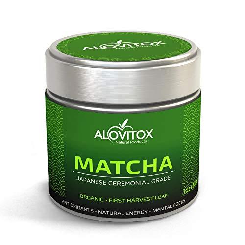 Matcha Green Tea Powder   Organic Ceremonial Grade Japanese First Harvest Matcha   Antioxidant Rich,...