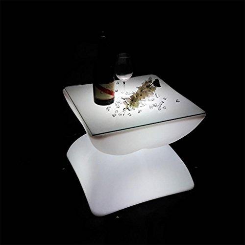 Xinye Table de bar Plastique étanche LED 16 Couleur lumineuse rechargeable avec télécommande