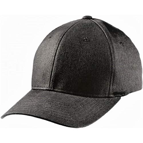 Flexfit ® Fullcap 6 Panel Baseballcap mit geschlossener Rueckseite und Elasthananteil in 13 Farben und 2 Groessen Schwarz, S/M, fuer 56/57 cm Kopfumfang
