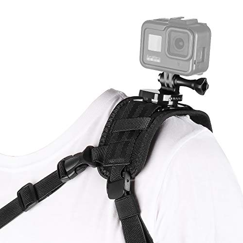 Taisioner Shoulder Mount Strap Clamp Compatible for GoPro AKASO or Other Action Camera ( Style for Male )