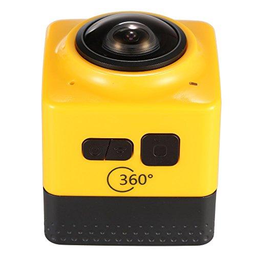 Docooler Cube WiFi 1280 * 720 24FPS 360 Grad Fisheye Weitwinkel Weitsicht Auen Super-Mini-Action-Sport-Panorama-Kamera Video-Camcorder