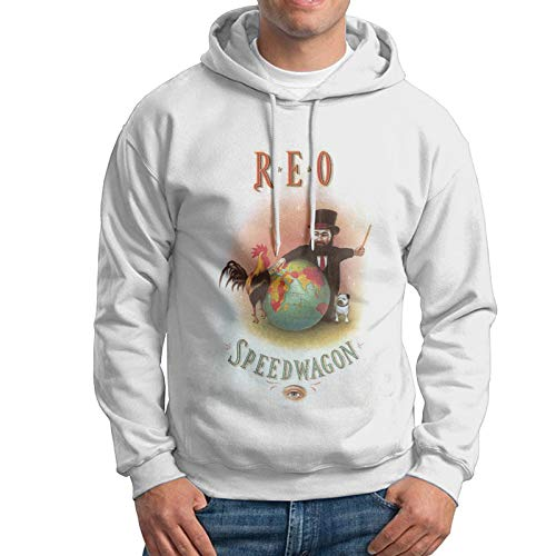 CharlieRGill REO Speedwagon Hoodies Sweater Men Sweatshirt Cool Cotton Pullover Hoody White