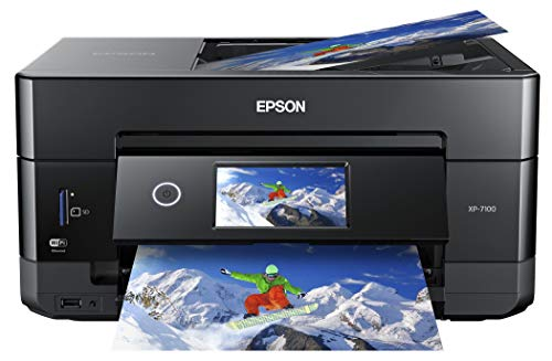 Epson Expression Premium XP-7100 Wireless Color Photo Printer with ADF, Scanner and Copier (Renewed)