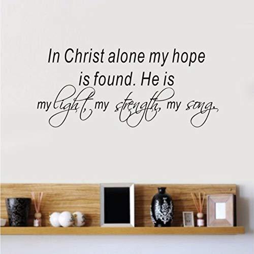 Waofe Bibelverse Wandtattoo Zitat In Christus Allein Meine Hoffnung Ist Vinyl Aufkleber Home Schlafzimmer Aufkleber Innenarchitektur 58 * 25 Cm