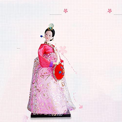 Muñeca Japonesa Kimono Geisha asiático Coleccionable estatuilla decoración hoteles Suministros de Hotel Regalos para niños Navidad cumpleaños Presente Oriental Coleccionable estatuilla,Rosado