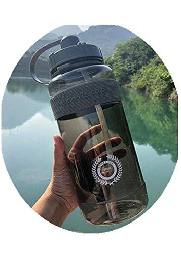 Gran Oferta, hervidor de Agua para Deportes al Aire Libre, Botella de Gran Capacidad, portátil, para Escalar, Botellas de Agua para Bicicletas, Tazas sin BPA para Gimnasio, 1000 ml, Negro