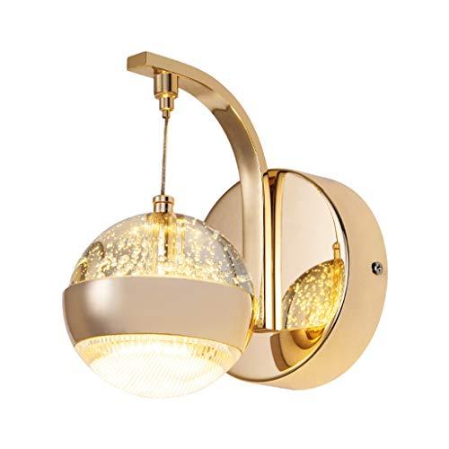 kerryshop Lámpara de Pared Lámpara de Pared cristalina, lámpara de cabecera, la decoración de la lámpara de Pared for el Dormitorio y Sala de Estar Lampara de Pared Exterior