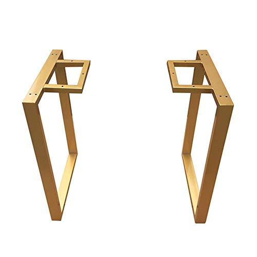 Furniture legs Gold Moderne tischgestell X2,70cm Höhe Metall Tischbeine,Schreibtischgestell,tischkufen hoch für esstisch Bank Möbel DIY,Eisen Vierkantrohr