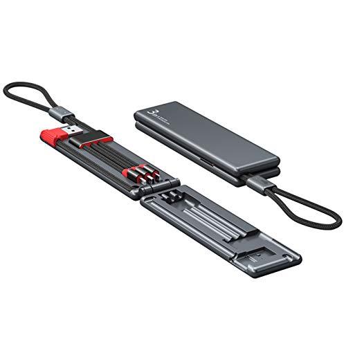 Hotar Cable 3 en 1 retráctil y portátil que se puede utilizar para personalizar regalos de teléfono móvil.
