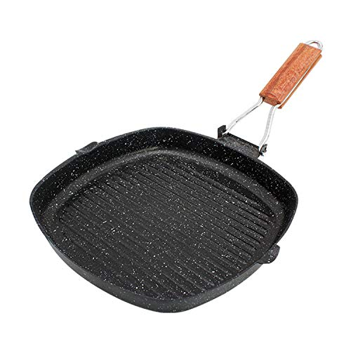 """Padella pieghevole antiaderente portatile Grill Pan per bistecca carne pesce 24cm / 9.5\"""""""