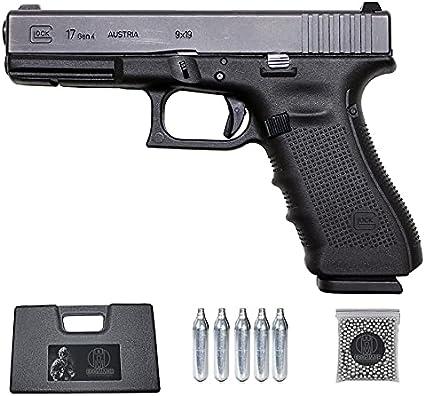 Pistola G18 GEN4 blowback   Pistola de balines BB's de Acero semiautomática Calibre 4,5mm + maletín y consumibles