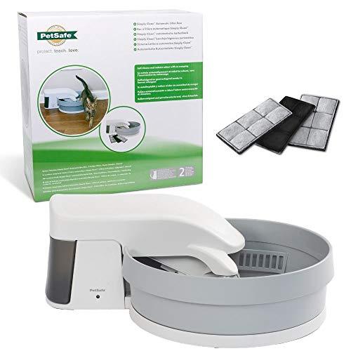 PetSafe Simply Clean Selbstreinigende Katzentoilette, Automatisches Katzenklo, Funktioniert mit klumpendem Katzenstreu, Austauschbare Aktivkohlefilter für Geruchskontrolle, Elektrisches Katzenklo