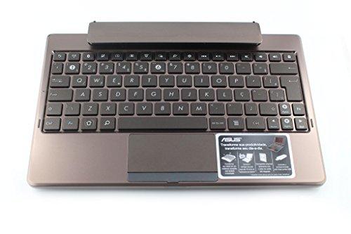 Asus EP TastaturDock für EeePad TF101 mit deutschem Tastaturaufkleber, braun