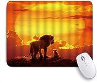 TARTINY ゲーミング マウスパッド,ライオンキングプレーリーアニマルサンセットサンゴールデンクラウドオレンジ,マウスパッド レーザー&光学マウス対応 マウスパッド おしゃれ ゲームおよびオフィス用 滑り止め 防水 PC ラップトップ