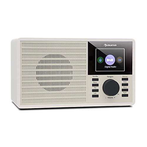 auna DR-160 BT - DAB+/FM Radio mit Bluetooth, Special Edition, integrierte Lautsprecher, Weck-, Schlaf-, und Schlummer-Funktion, 2.4