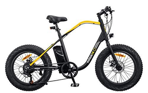 "Nilox - E-Bike J3 National Geographic - Bici Elettrica a Pedalata Assistita - Motore Brushless High Speed da 250 W e Batteria LG da 36 V - 10.4 Ah - Ruote 20"" Fat e Cambio Shimano a 7 Marce"