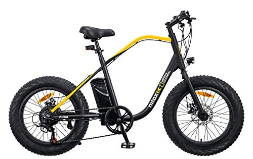 Nilox J3 National Geographic, eBike Unisex Adulto, Black And Yellow, Medium