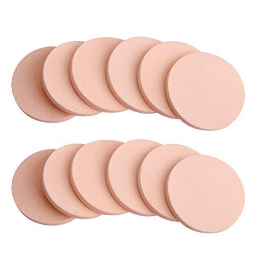 Milisten 24Pcs Maquillage Éponge Poudre Faciale Bouffée Cosmétiques Blush Applicateurs Éponges Rondes Fondation Humide Et Sec à Double Usage (12Ps / Sac)