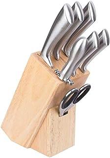 CUPERINOX juego de cuchillos de cocina | Cuchillos Cocina Profesional de 7 Piezas | Cuchillos profesional de una Sola Pieza | tacoma madera | tacoma cuhillos| Incluye chaira / afilador de Cuchillos