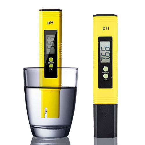 Digital pH Meter Tester with ATC - 0-14 PH Measurement Range, ±0.01 pH Accuracy, Automatic Calibration - Pocket Size PH Meter for Drinking Water, Swimming Pool, Aquarium, Wine, Lab