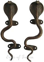"""Ogen van INDIA - 9"""" PAIR BRASS SNAKE COBRA DOOR PULLS CABINET HANDLES Brons Antieke Indiase Decor"""