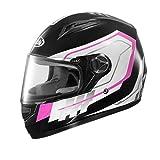 ZXW Motorradhelm Männer Und Frauen Vier Jahreszeiten Vollgesicht Helm HD Anti-fog Warme Helm (Farbe...