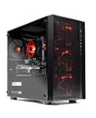 Ryzen 5 1600 6-Core 3.2 GHz (3.6 GHz Turbo) | 1 TB 7200RPM Hard Drive | A320M Motherboard NVIDIA GeForce GTX 1050 Ti 4GB GDDR5 Video Card | 16GB Gaming Memory DDR4 2400 with Heat Spreader | Windows 10 Home 64-bit PCIe AC Wi-Fi with Antenna | No bloat...