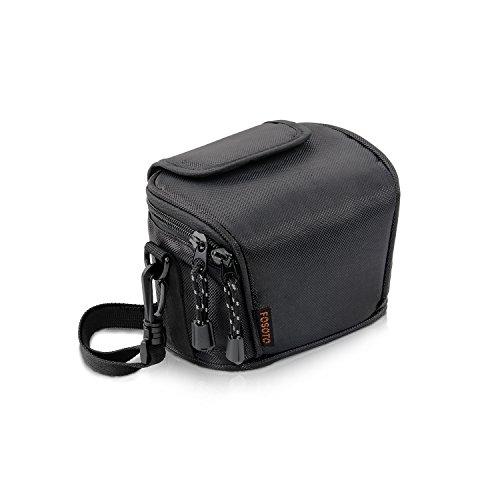 FOSOTO Camera Case Bag Compatible for Nikon Coolpix L330 L340 L320 L310 L820 L810 L620,Canon Powershot SX420 SX510 HS G1, Nikon J5 J3 S1 V2 V3,Panasonic Lumix LZ20 LZ30 ,Sony Video Camera - (Black)