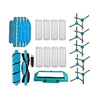 U-キッツ 小米科技Mijia STYJ02YM交換モップ布カバー部品用のローラーブラシについてはコンガ3490 3290掃除機のサイドブラシフィルター (Color : Set 7)