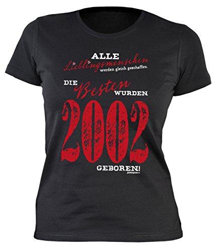 Sexy Mädchen Damen T-Shirt exklusiv zum 18. Geburtstag Lieblingsmenschen 1999 cooles Geschenk zum 18 Geburtstag Freundin Schwester 18 Jahre Gr: M, Farbe: Schwarz