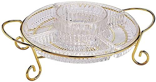 Puesto de Frutas Plato de frutas plato de dulces de fruta para cristal,placa de bocadillo de pastel plato seco creativo