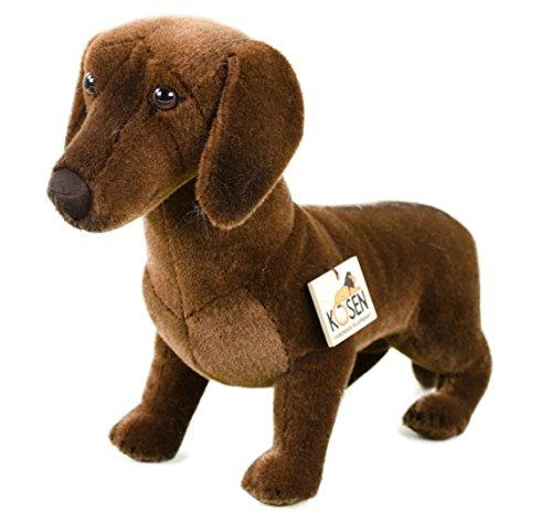 Teddys Rothenburg Kösen, Glatthaardackel, 36 cm, stehend, braun, Plüschdackel, Stoffhund