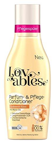 Lovables Cashmere Kiss Parfüm- und Pflege-Conditioner, Weichspüler, mit Micro-Oil, 5er Pack (5 x 34 Waschladungen)