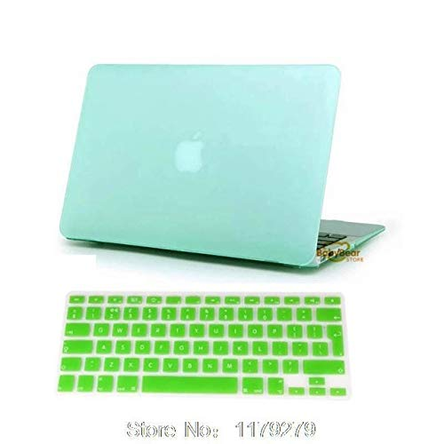 Laptop Matte Rubberized Hard Cover Case +Us Keyboard TPU for MacBook 11 12 13 15 for Mac Book Sleeve Notbook Hard Without Logo : Green, 15 Retina