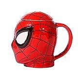 xingfuankang 380Ml Black Panther Spiderman 3D Cartoon Tazza d'Acqua caffè Latte tè Tazza in Ceramica Home Office Collection Cup Festival Gift-5