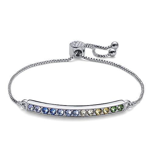 Oliver Weber Collection Mixed – Bracelet plaqué rhodium • Collection de bijoux premium bracelet avec cristaux Swarovski • Cadeau idéal pour femme