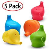 Sippy Cup Lids Spill Leak Proof Cup Lids for Babies Toddlers Kids SoftSilicone Cup Lids Elephant Nose Shape Fit 5-9cm Diameter Cup Bottle FDA Safe BPA Free