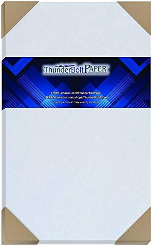 "50 Light Blue Parchment 60# Text (=24# Bond) Paper Sheets - 8.5"" X 14"" (8.5X14 Inches) Legal|Menu Size - 60 lb/Pound is Not Card Weight - Vintage Colored Old Parchment Semblance"