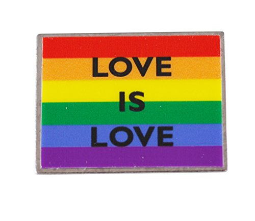Forge Love is Love Gay Pride Rainbow Flag Lapel Pin(1 Pack)