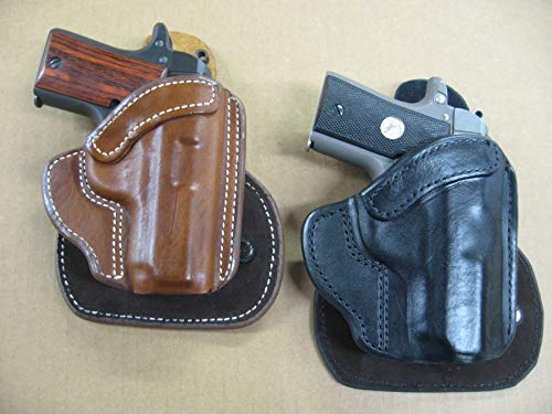 Azula All Leather Molded Paddle Holster CCW OWB for CZ 2075 RAMI Pistol Black RH